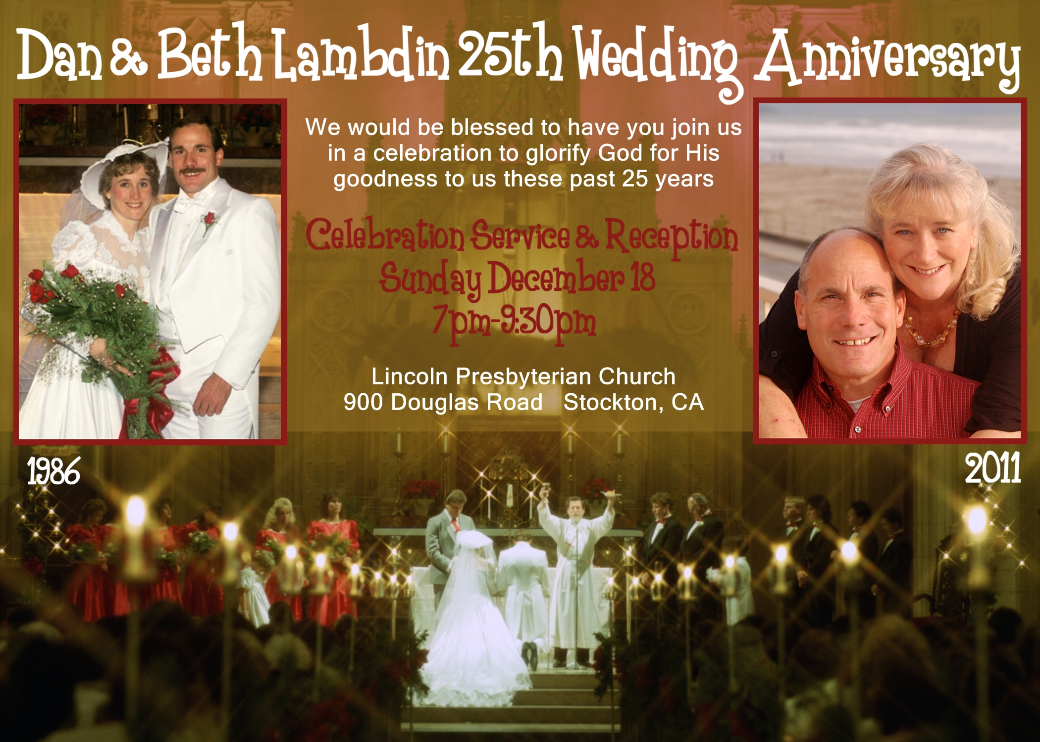 25 Wedding Anniversary Celebration Ideas: Our 25th Wedding Anniversary Celebration Service