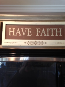 My current view from the kitchen table of this home...have faith! I believe Lord...help my unbelief.